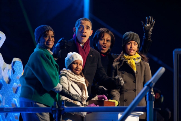 First Family Reacts To Tree Lighting
