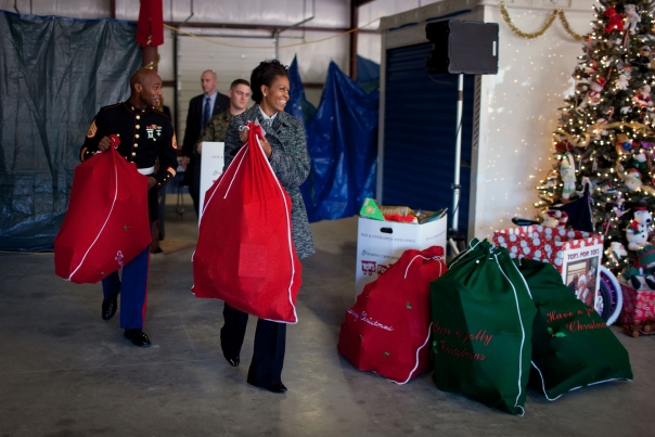 First Lady Delivers Toys Donated To Toys For Tots