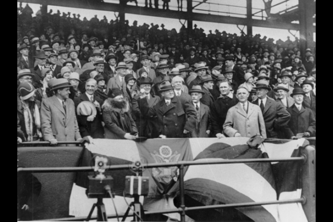 Image result for Herbert Hoover first pitch