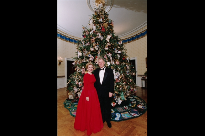 Hillary Clinton Christmas.Hillary Clinton Winter Wonderland The White House