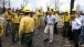 President Obama Views Fire Damage with Firefighters