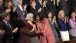 First Lady Michelle Obama greets Darlene Daniels