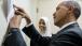 President Obama Signs Remarks for Introducer Sabah Muktar