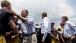 President Barack Obama Greets Personnel at Fire Station No. 9