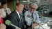 President Reagan in the press box with Harry Caray during a Cubs game