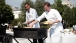 President Barack Obama and celebrity chef Bobby Flay grill