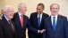 President Obama with Presidents Jimmy Carter, Bill Clinton, and George W. Bush at the dedication of the George W. Bush Presidential Library and Museum
