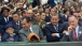 Richard Nixon at the Washington Senators Versus the New York Yankees Game on Opening Day