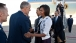 President Barack Obama and First Lady Michelle Obama Arrive in Tucson