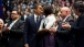 President Obama Hugs the First Lady
