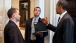 President Obama with Ben Rhodes and Jon Favreau