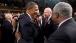President Obama Greets Rep. Danny K. Davis, Sen. Patrick Leahy, and Rep. Chaka Fattah