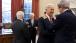 Vice President Joe Biden Talks With Sen. John Kerry In The Oval Office