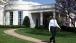 President walks on path
