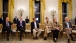 Senior Administration Officials Listen as President Obama  Addresses the Nation