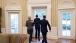 President Barack Obama and Secretary Geithner Escort Elizabeth Warren