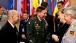 Gen. Petraeus, Admiral  Stavridis, and Chancellor Merkel