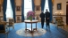 President Barack Obama and Prime Minister Singh of India Talk in the Blue Room