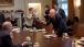 Interior Secretary Ken Salazar And Attorney General Eric Holder Talk In The Cabinet Room