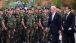 Vice President Joe Biden and Spanish President Zapatero with Troops