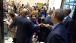 President Obama greets bystanders after early voting