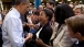 President Barack Obama Greets People At The Honeywell Golden Valley Facility