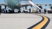 President Obama Disembarks Air Force One In Los Angeles