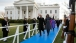 President Barack Obama and First Lady Michelle Obama Walk to Parade Stand