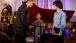 President Barack Obama greets young musicians Sujari Britt, 8, and Josh Yoder,16