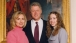 President and Mrs. William J. Clinton with daughter Chelsea in the East Room on Inauguration Day, 1997.