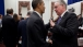 President Barack Obama talks with Missouri Governor Jay Nixon
