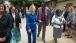 Secretary Clinton Walks With Bishop Taban