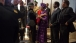 Secretary Clinton Greets Liberia President Sirleaf