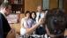 Vice President Joe Biden takes photo with family in snack shop, Bejing