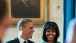 President Barack Obama And First Lady Michelle Obama Together In The Blue Room