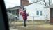 A Resident Waves To President Barack Obama