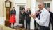 President Obama and Senior Staff Celebrate Katie Bernie Fallon