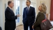 President Obama talks with National Security Advisor Donilon and Secretary of State Clinton