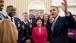 President Obama Talks With White House Fellows