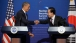 President Barack Obama And President Lee Myung-bak Shake Hands