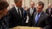 President Barack Obama And President Dmitry Medvedev Of The Russian Federation Exchange Gifts