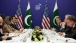 President Barack Obama Meets With Prime Minister Yousaf Raza Gillani Of Pakistan