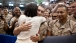 First Lady Michelle Obama Greets Marines