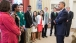 President Obama talks with 4-H STEM students