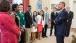 President Obama talks with 4-H STEM students