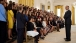 President Barack Obama Talks With Interns
