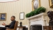 President Obama Gestures During A Meeting In The Oval Office
