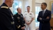 President Obama Talks With Gen. Odierno, Gen. Dempsey, And Admiral Winnefeld