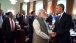 President Obama and Prime Minister Modi of India Talk After Lunch