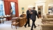 President Obama And Vice President Biden Head Toward The Oval Office Private Dining Room
